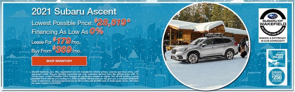 2021 Subaru Ascent November Offer