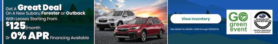 Get A Great Deal On A New Subaru Forester or Outback
