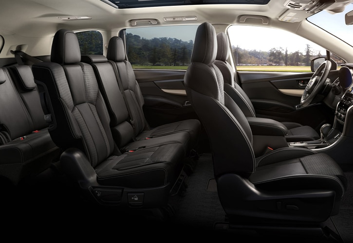 Black Slated Subaru Ascent Seats