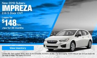 New 2019 Subaru Impreza Hatchback