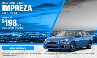 New 2018 Subaru Impreza Sedan