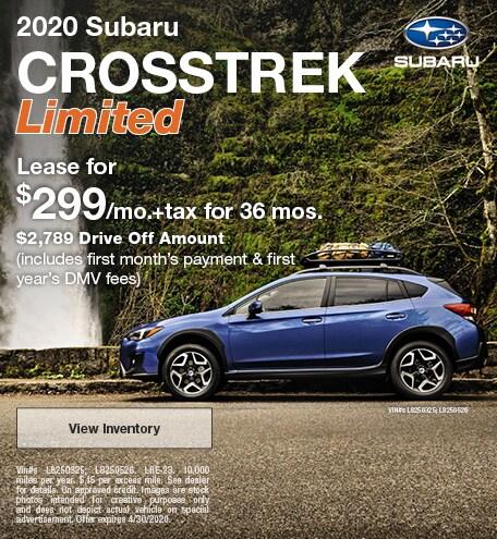 2020 - Crosstrek - April