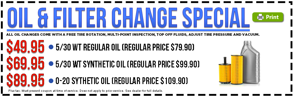 Subaru Oil And Filter Change Discount Savings Coupon Torrance Ca