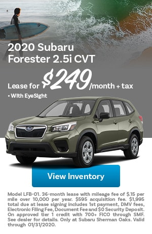 January 2020 Subaru Forester Offer