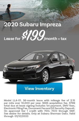 January 2020 Subaru Impreza Offer