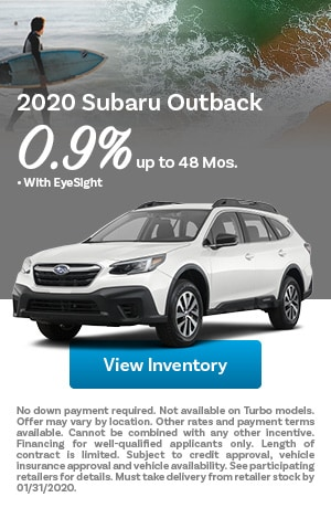 January 2020 Subaru Outback Offer