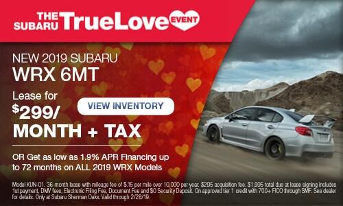 New 2019 Subaru WRX 6MT