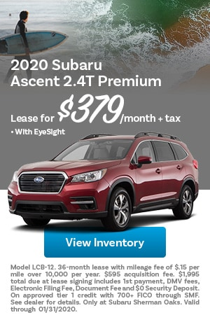 January 2020 Subaru Ascent Offer