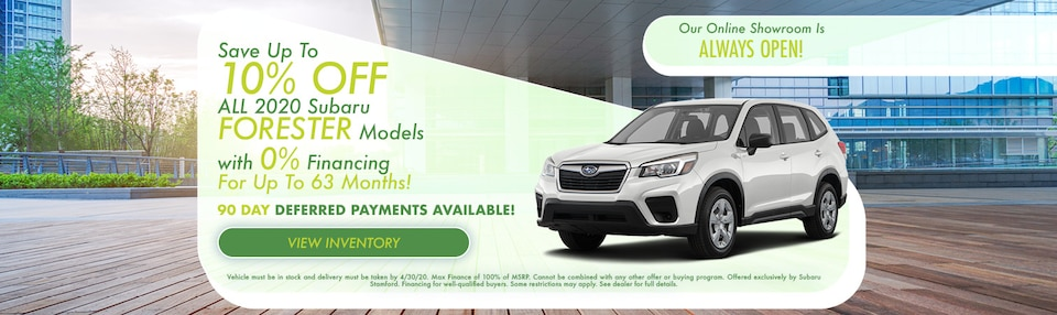 Save 10% OFF On Subaru Forester