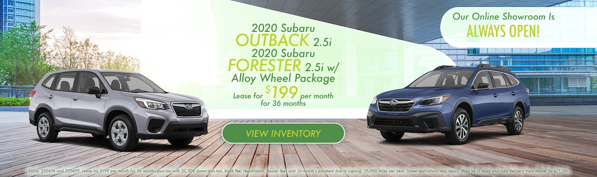2020 Subaru Outback/Forester Lease Offer