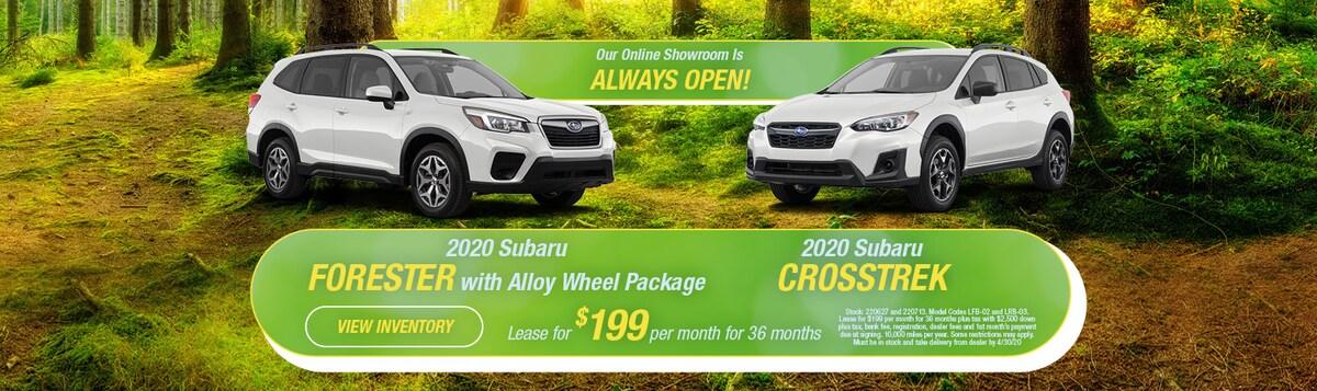 2020 Subaru Forester & Crosstrek Lease