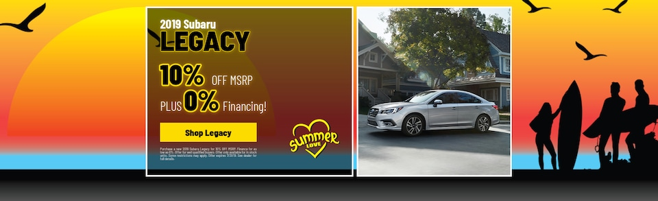 2019 Subaru Legacy Finance