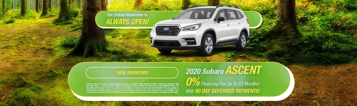 0% Financing On 2020 Subaru Ascent