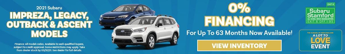 2021 Subaru Impreza, Legacy, Outback & Ascent Models
