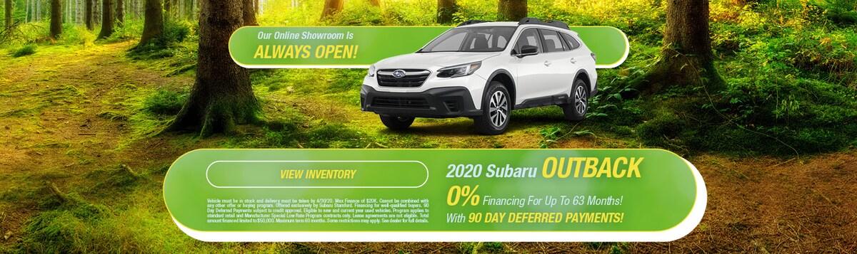 0% Financing On 2020 Subaru Outback