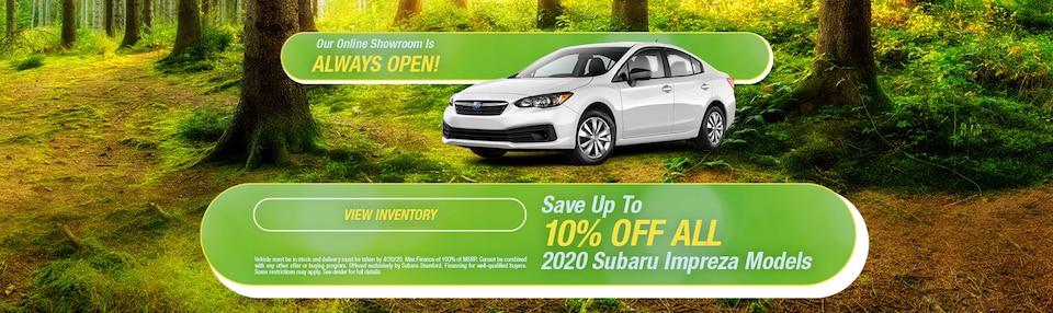 Save 10% OFF On Subaru Impreza