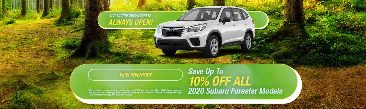 Save 10% OFF On 2020 Subaru Forester