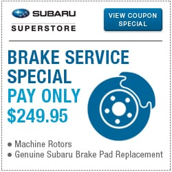 Browse our brake repair or replacement service special at Subaru Superstore of Surprise