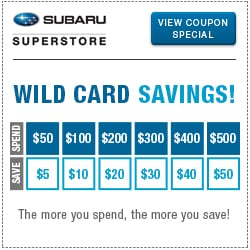 Click to view our wild card service special at Subaru Superstore of Surprise