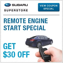 Click to view our remote engine starter parts special at Subaru Superstore of Chandler