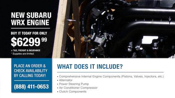 New Subaru Engine & Certified Rebuilt Subaru Engines