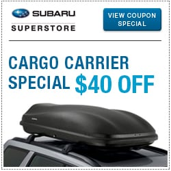 Click to view our cargo carrier parts special at Subaru Superstore of Chandler