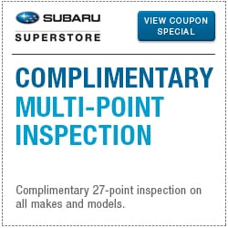 Click for complimentary inspection service special at Subaru Superstore of Chandler