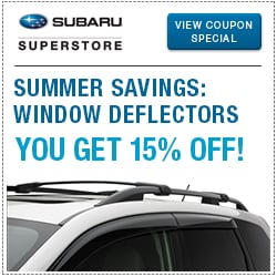 Click to view our side window deflector parts special at Subaru Superstore of Chandler