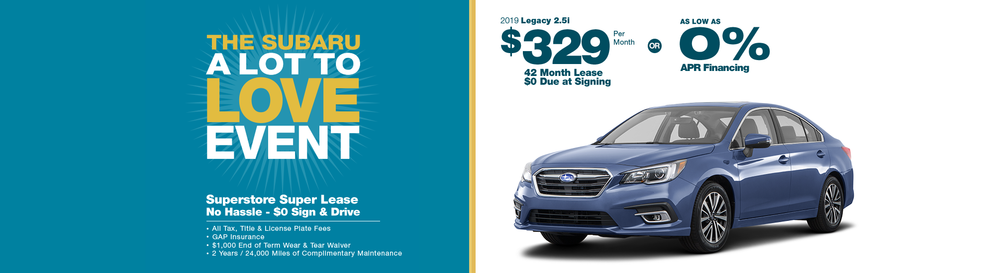 2019 Subaru Legacy 2.5i Lease or Low APR Special in Chandler, AZ