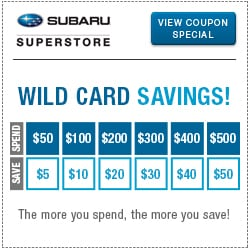 Click for wild card service special at Subaru Superstore of Chandler