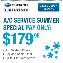 Click for air conditioning service special at Subaru Superstore of Chandler