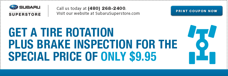 Subaru Tire Rotation Service Special in Chandler, AZ