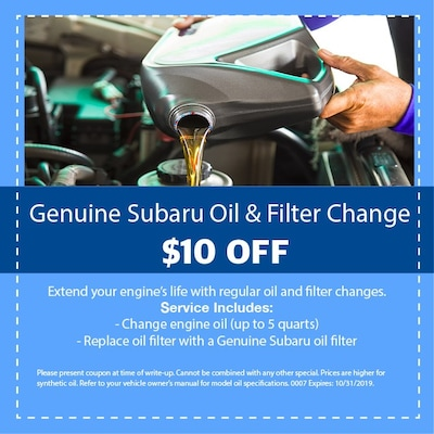 Genuine Subaru Oil & Filter Change