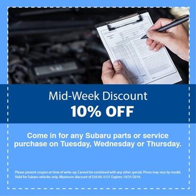 Mid Week Discount