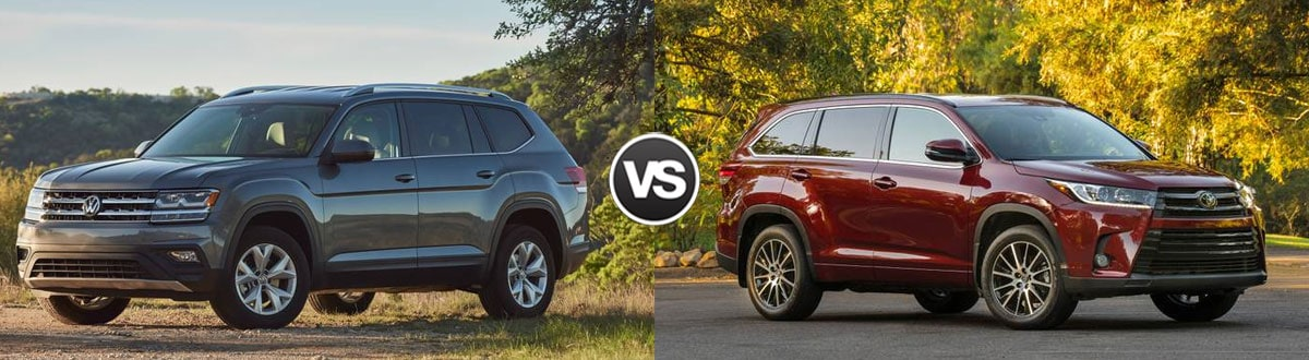2019 Volkswagen Atlas vs 2019 Toyota Highlander