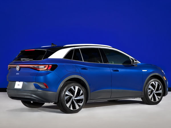 2021 Volkswagen ID.4 electric SUV Rear Angle