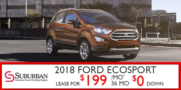 New Ford Ecosport Specials Suburban Ford Of Sterling Heights