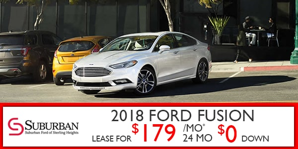 new ford vehicle lease specials at suburban ford of sterling heights