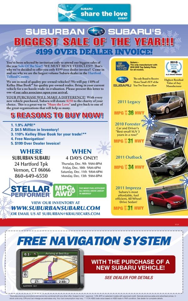 Suburban Subaru New Subaru Dealership In Vernon CT - Subaru dealer invoice