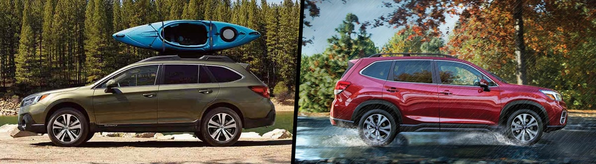 Outback Vs Forester >> 2019 Subaru Outback Vs 2019 Subaru Forester Comparison Troy Mi