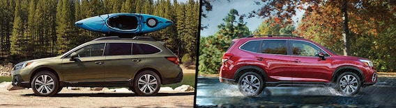 Forester Vs Outback >> 2019 Subaru Outback Vs 2019 Subaru Forester Comparison Troy Mi