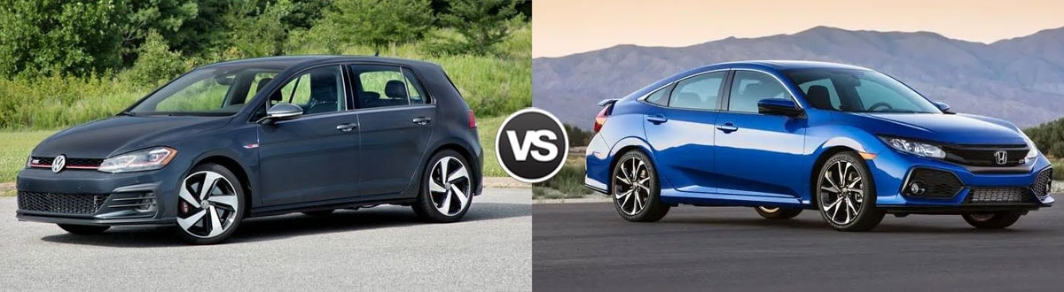 2019 Volkswagen Golf GTI vs 2019 Honda Civic Si