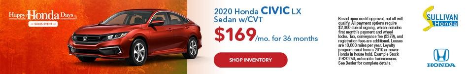 2020 Honda Civic LX Sedan w/CVT