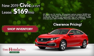 DEC - New 2019 Civic LX: $169/mo