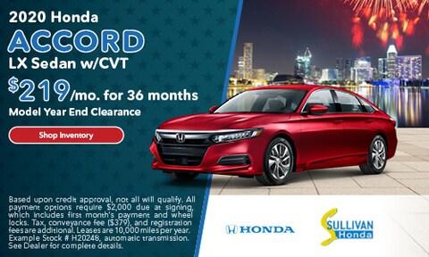 2020 Honda Accord LX Sedan w/CVT