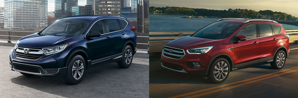 comparing sizes of the 2018 honda cr v and 2018 ford escape