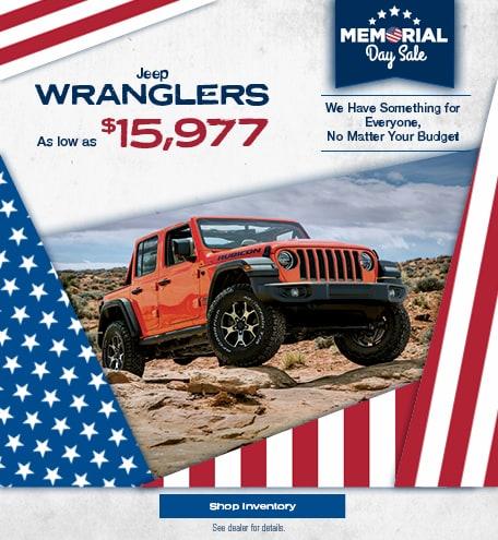 Jeep Wranglers - May