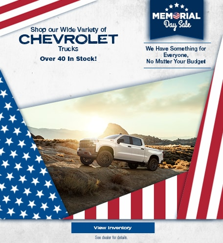 Shop our Wide Variety of Chevrolet Trucks - May
