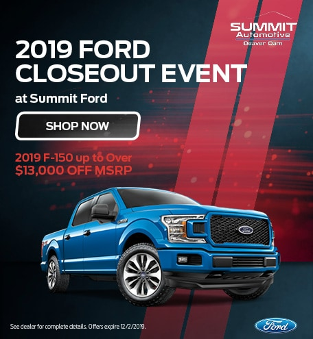 November 2019 Ford Closeout Event