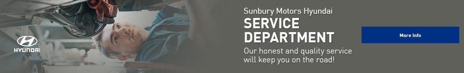 Sunbury Motors Hyundai Service Department
